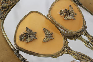 Antique Butterflies Hibiscus Vanity Set