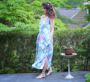 Vintage Sleeveless Floral Carol Anderson Dress