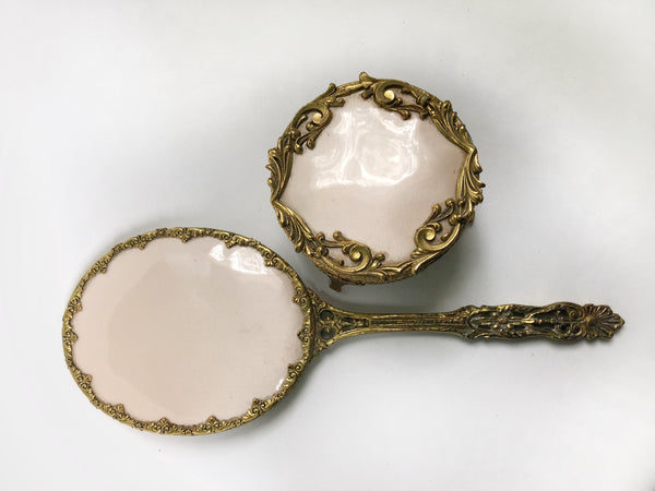 Antique Gilt Vanity Set