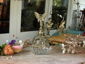Antique Rare Butterfly Perfume Bottle