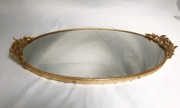 Antique Leaves & Berries Mirror Tray