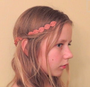 Small Fabric Leaf Goddess Headband.
