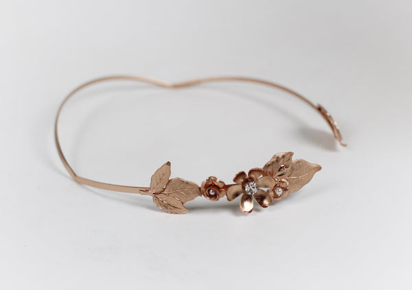 Jillian Floral Asymmetrical Goddess Headband.