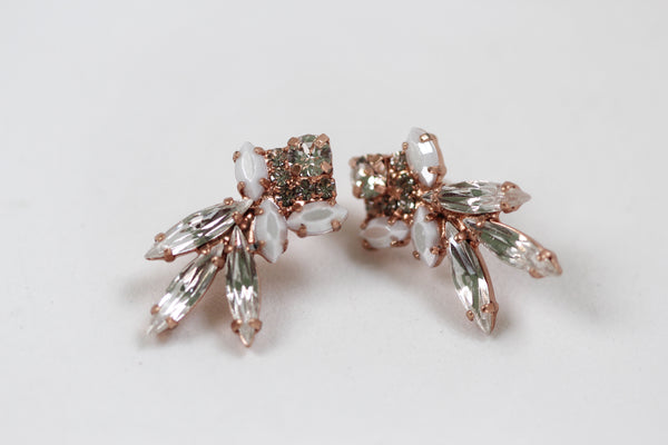 Viviana Pearls & Crystals Clusters Earrings