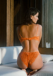 Jade panty Icone Lingerie Conscious collective orange model back