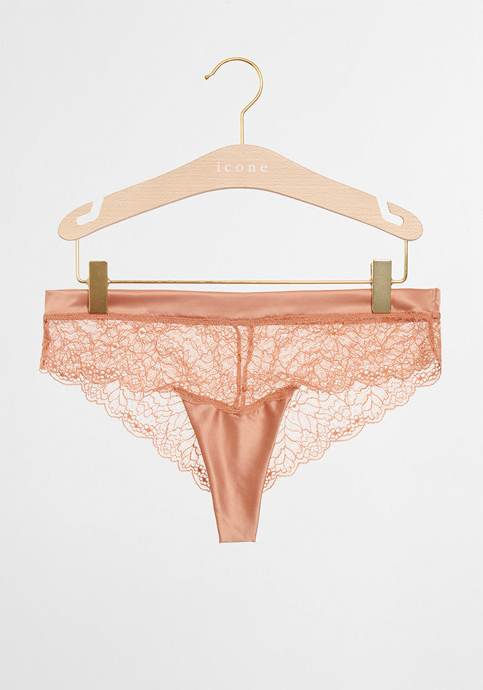 lace-satin panty Icone Lingerie Conscious collective toluca pink product
