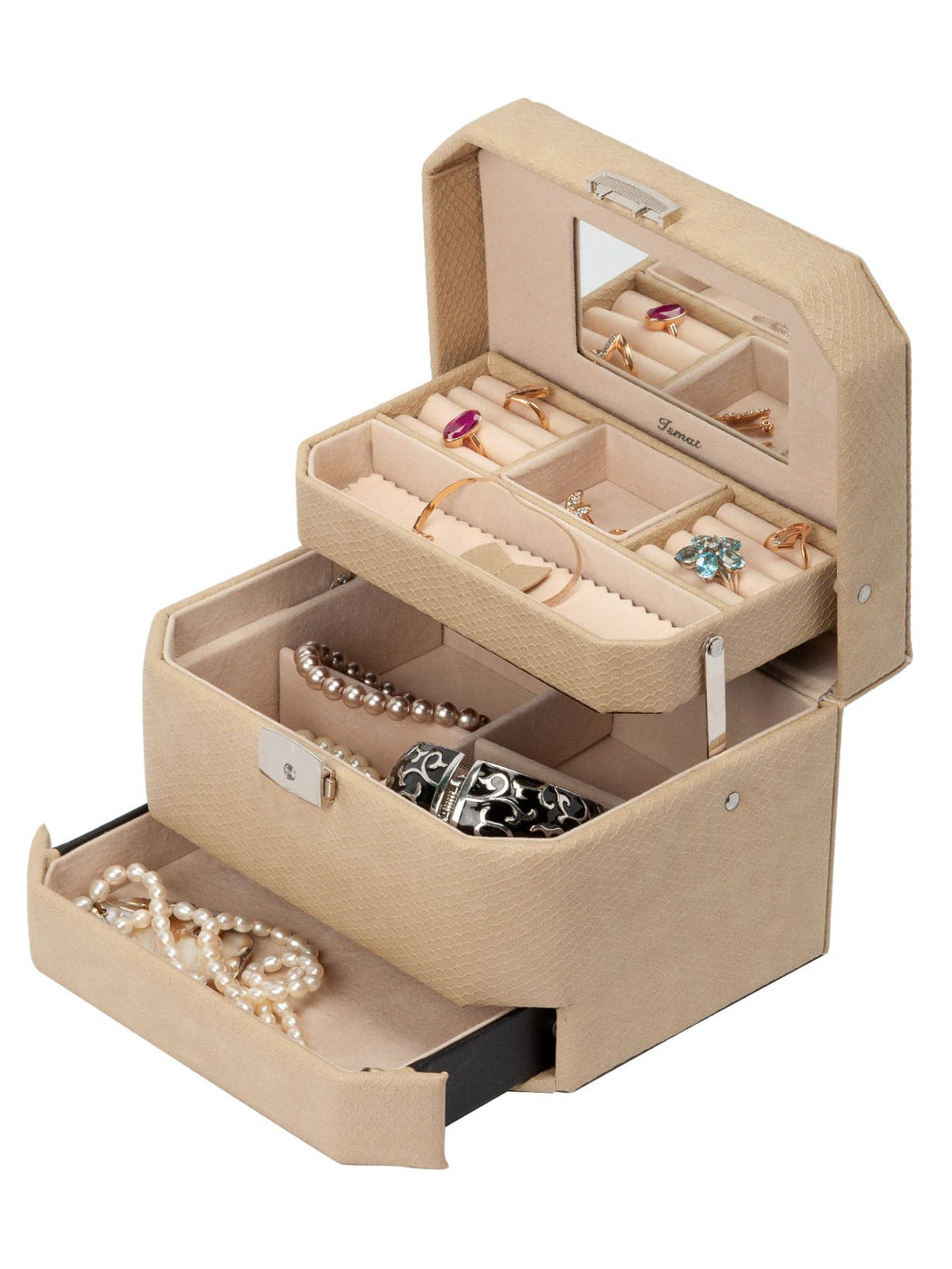 Jewelry box ARISTOCRAT SNAKE Beige