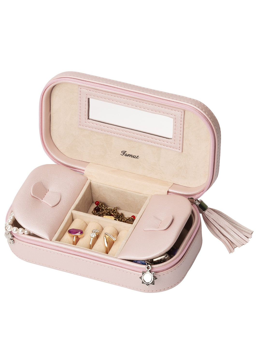 PETIT RÊVE Pink Travel Jewelry Case