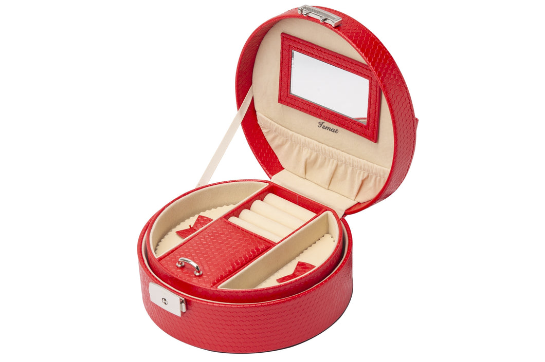 LUA snake effect jewelry box Red