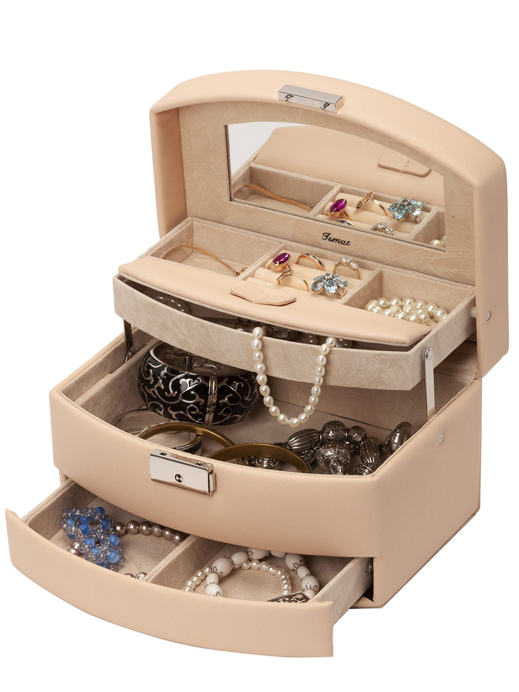 ELEGANT TOUCH Beige jewelry box