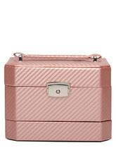 Load image into Gallery viewer, STRIPED Pink jewelry box + travel case