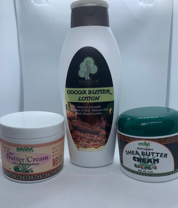 100% Vegetable Base Body Butter Cream & Lotion