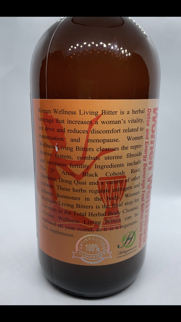 Women Wellness Living Bitters Detox & Energy Bev., Feel Better, Live Better