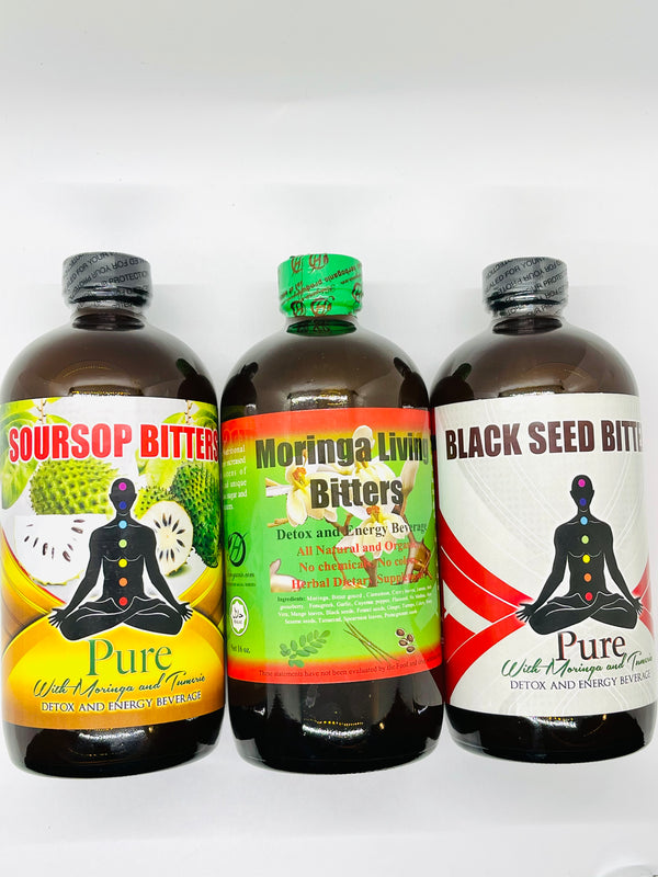 Extra Strength Detox & Energy Bitters (Moringa, Soursop, Black Seed)