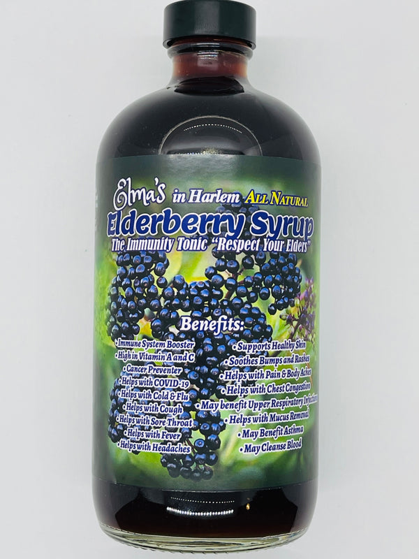 Elma's Homemade Elderberry Syrup (Immune System Booster) (COVID Protection)
