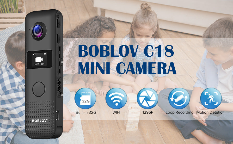 BOBLOV C18 Body camera is best pocket wifi device to carry around.