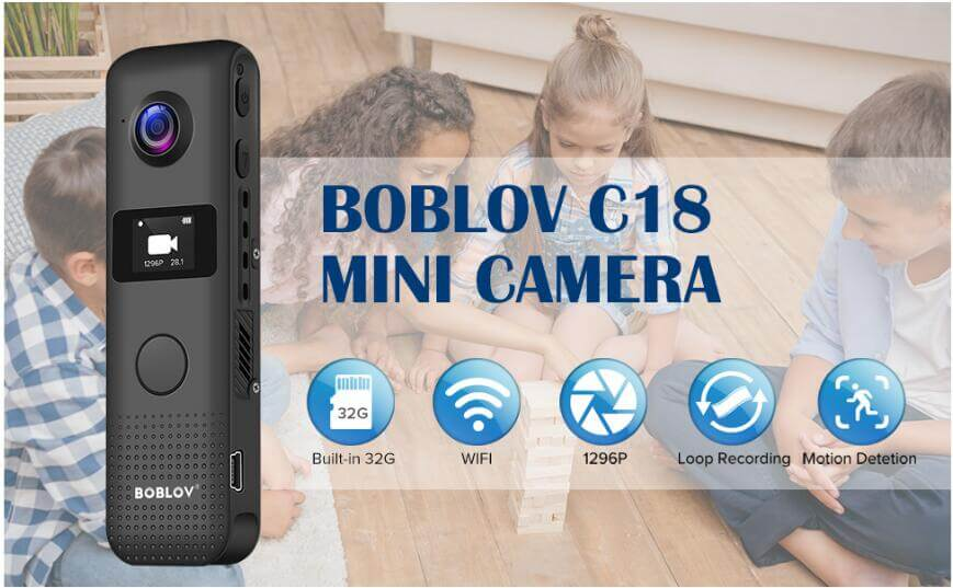 BOBLOV C18 1296P wifi body worn camera.1