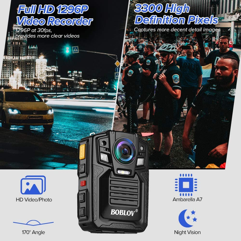 BOBLOV HD66 1296P Body Worn Camera IR Night Vision.5