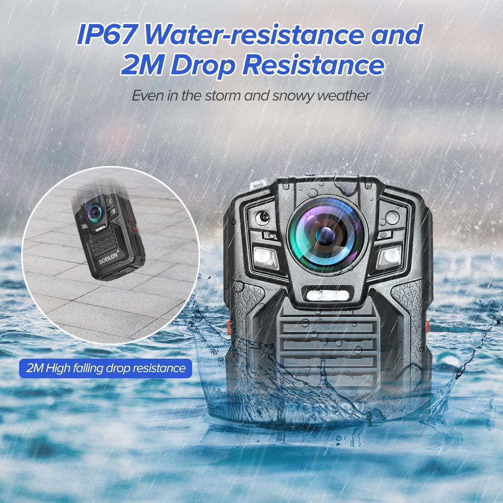 BOBLOV HD66 FHD 1296P Body Camera ip67 Waterproof