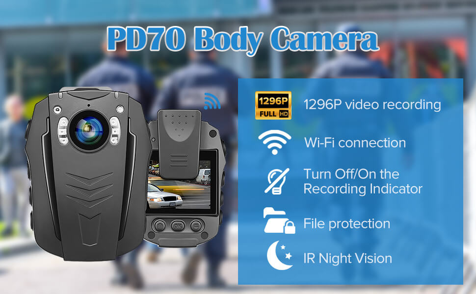 BOBLOV PD70 WiFi Body Camera 1296P  camera