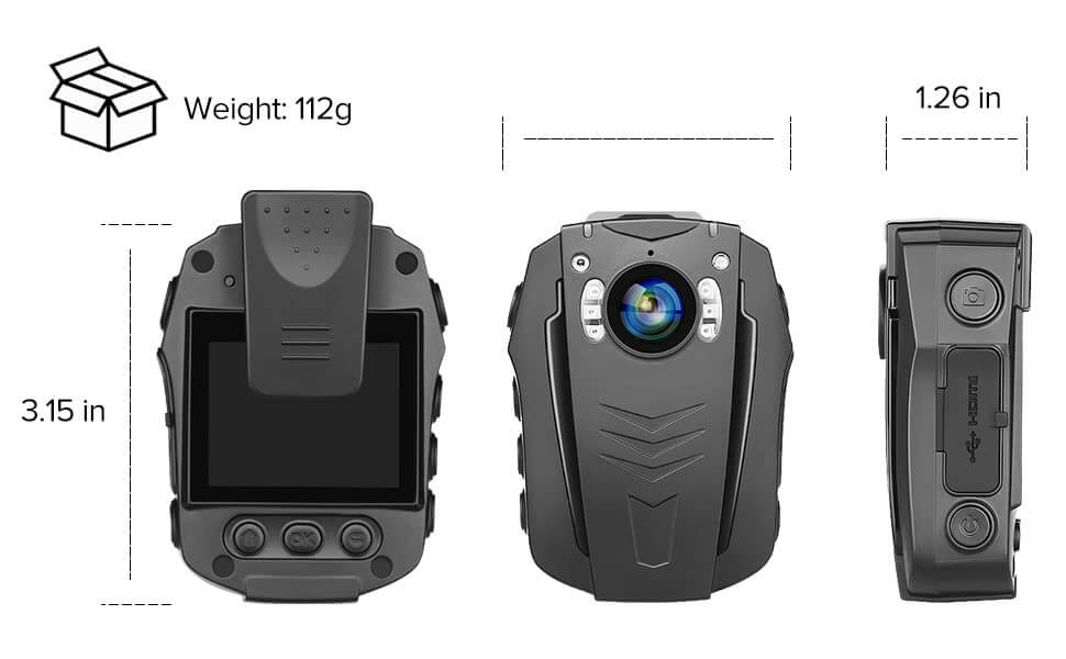 BOBLOV PD70 WiFi Body Camera 1296P mini size
