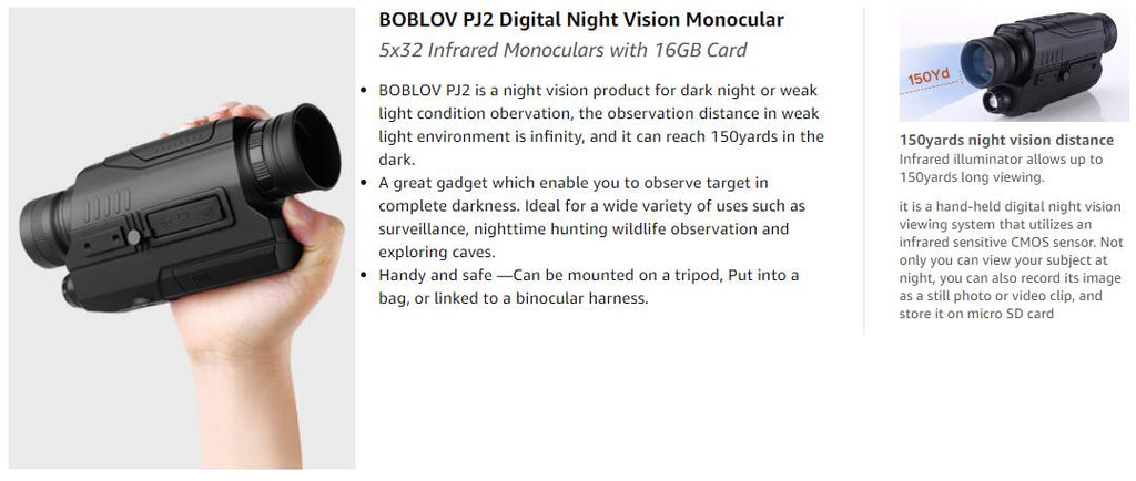 BOBLOV PJ2 Digital Night Vision Monocular.2