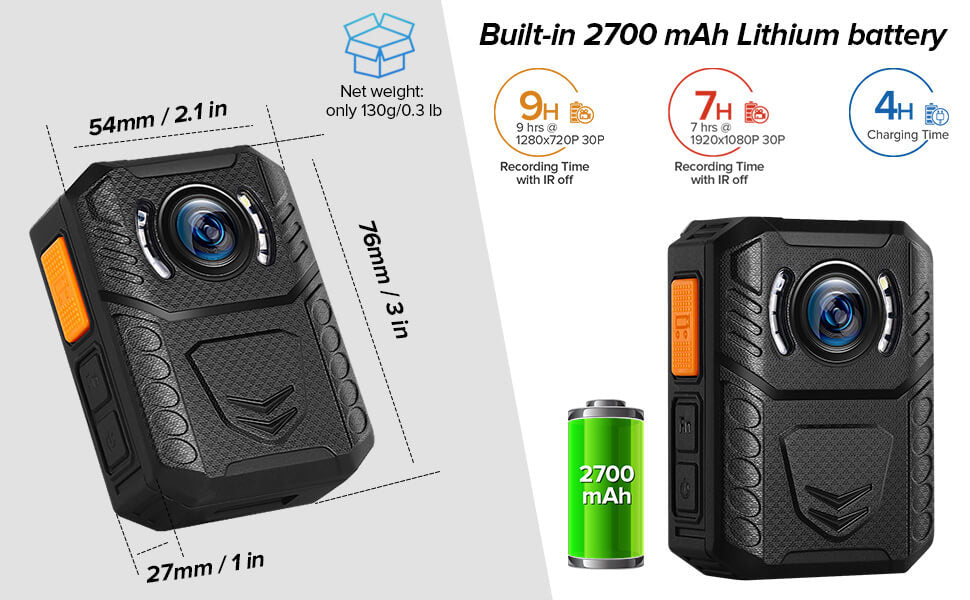 BOBLOV X3A 1080P HD Body Worn Camera package.2