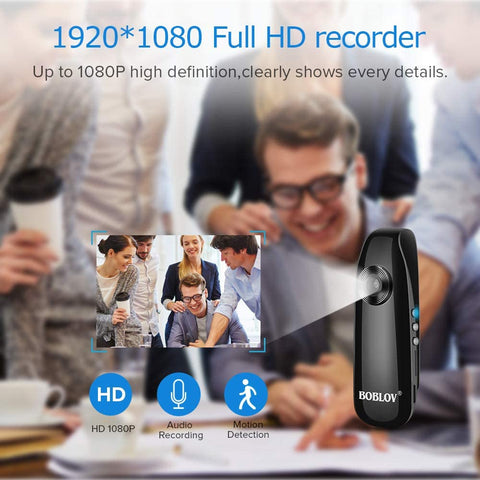 BOBLOV 1080P Mini Wearable Camera IDV007.5