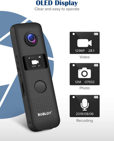 BOBLOV C18 1296P Mini camera bodycam.2