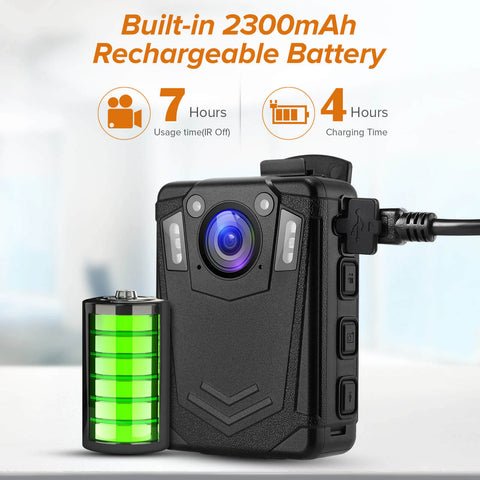 BOBLOV DMT204 Body Camera support 7hours recording