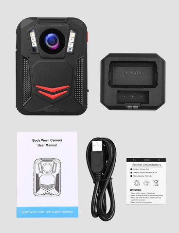 BOBLOV G2A 1440P Body Camera GPS Package