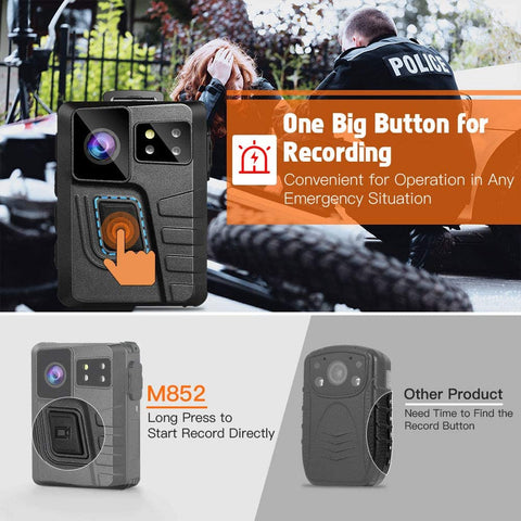 BOBLOV M852 Body Camera gps 360 degrees clip