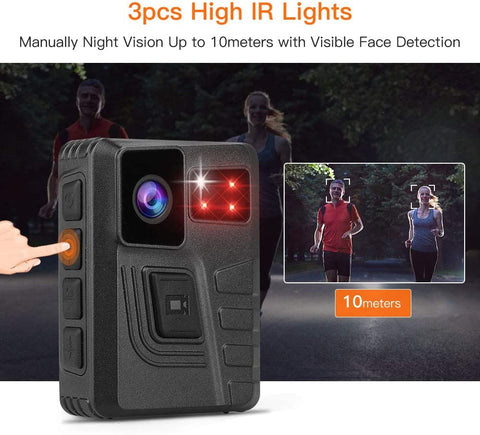 BOBLOV M852 HD 1296P Wearable Camera gps law enforcement
