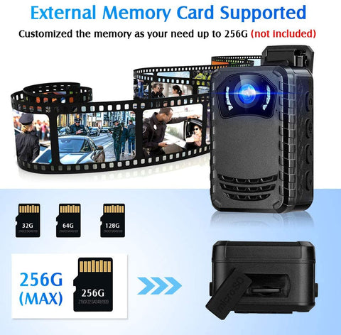 BOBLOV N9 HD1296P Body camera external memory card up to 256G.1