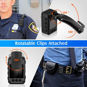 BOBLOV N9 HD1296P wearable camera with rotatable clips