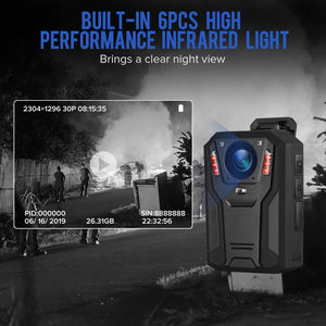 BOBLOV P100 1296P Body Camera night vision