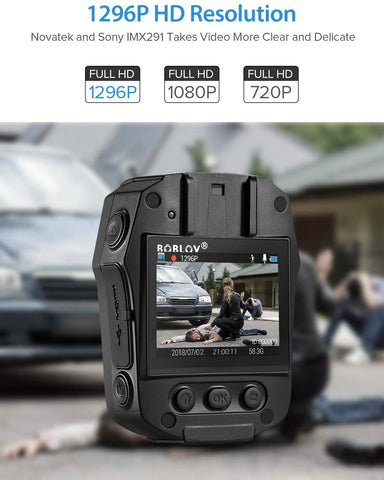 Image of BOBLOV PD50 HD 1296P Body Worn Camera full hd
