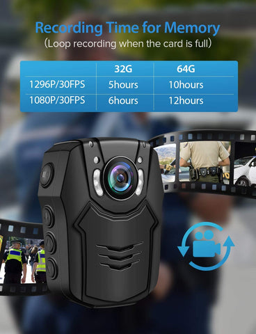 Image of BOBLOV PD50 HD 1296P Body Camera.4