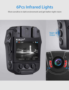 BOBLOV PD50 HD 1296P Body Worn Camera Infared light.8