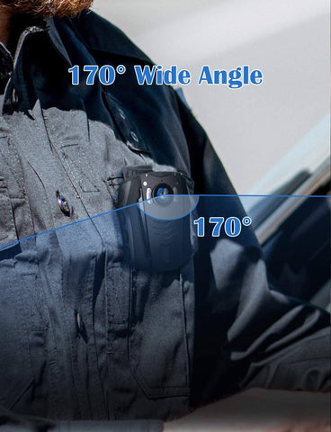 Image of BOBLOV PD70 HD 1296P Camera Wifi Body worn camera 170 degree