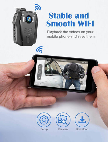 Image of BOBLOV PD70 HD 1296P WiFi Camera for android IOS