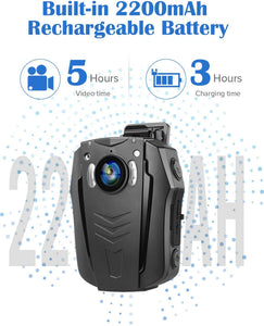BOBLOV PD70 WiFi Body Camera 1296P built in 2200mAh battery