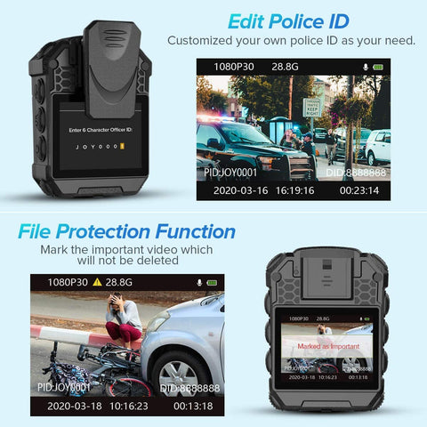 Image of BOBLOV T5 1296P Body Camera law enforcement Edit Police ID