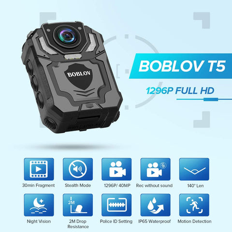 BOBLOV T5 1296P FULL HD Wearable camera