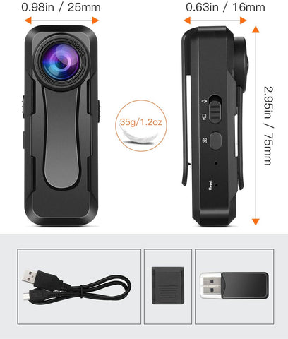 Image of BOBLOV W1 Mini hidden camera HD 1080P sony imx307 lens