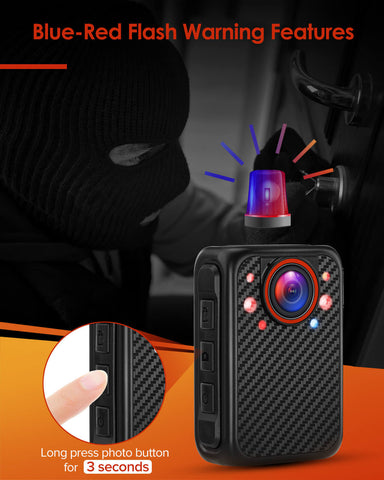 BOBLOV X1 Mini Body Camera Full 1080p Support Up to 8 hours Recording