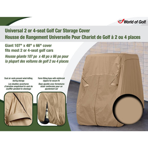 JEF World of Golf Universal 2 or 4-seat Golf Car Storage Cover