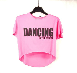 T-shirt Dancing in the street rosa Skazz