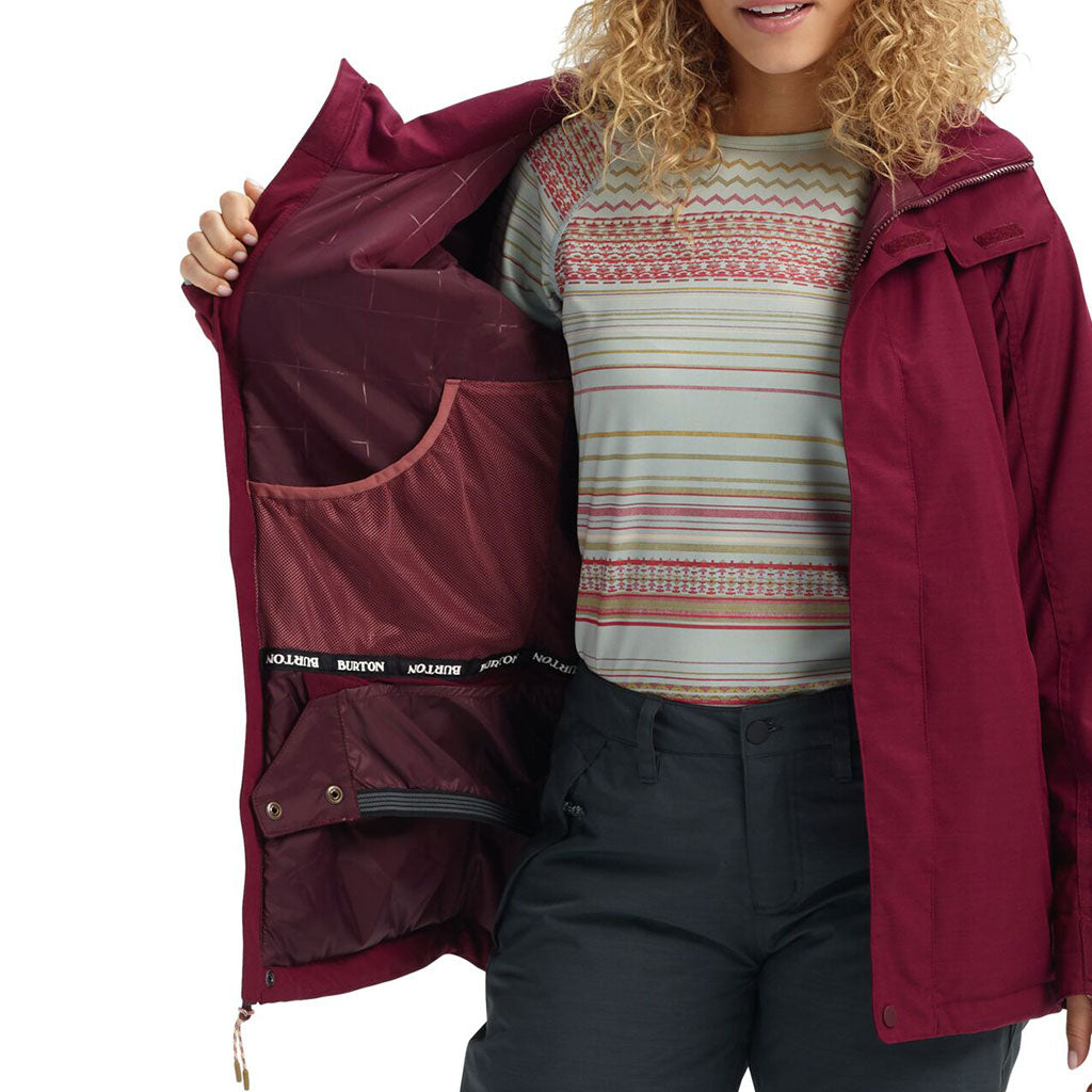 Burton 2021 Womens Jetset Jacket - Port Royal Heather