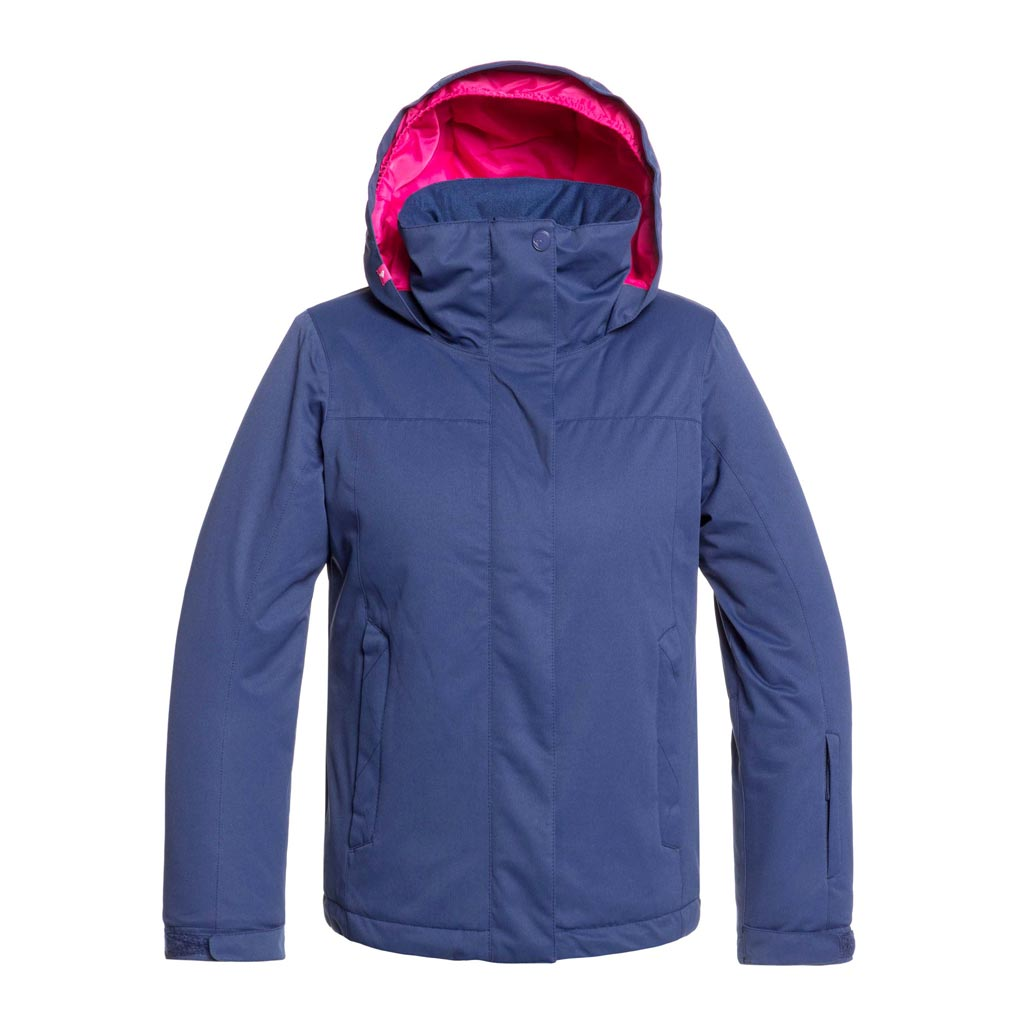 Roxy 2020 Girls Jetty Snow Jacket Solid - Medieval Blue - Sale